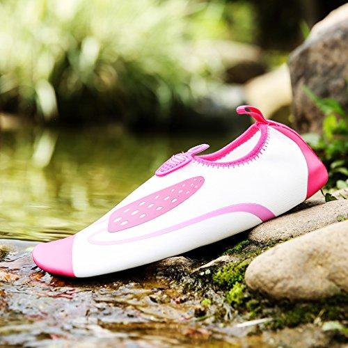 Unisex Aquaschuhe Surfschuhe Badeschuhe Weich Wassersport Schuhe Red