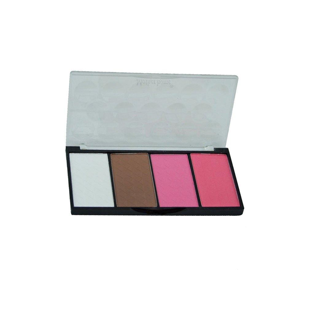 Chunyang 4-Farben-Highlight Bronzer Puder-Palette Wange Gebacken Erröten Pulver für Kontur Gesichtsschatten