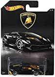 Hot Wheels Lamborghini Sesto Elemento Glossy Black with Yellow Interiors Toy Car