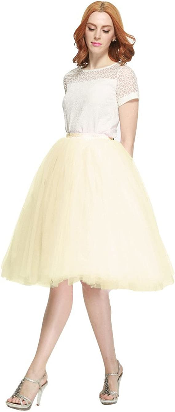 BESILA - Falda de tul estilo 50s retro vintage, midi, para disfraz ...