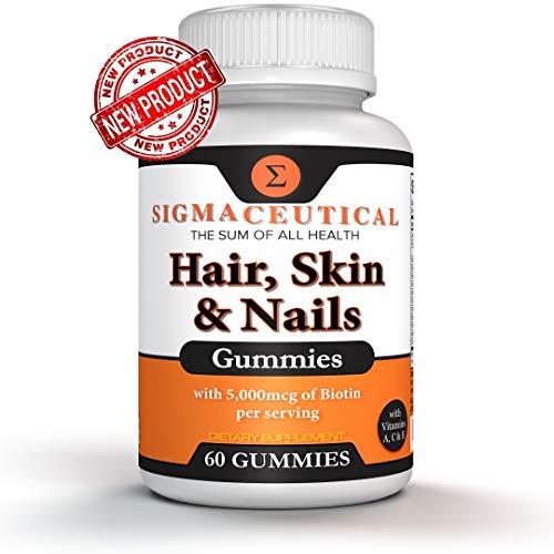 Biotin Hair Growth Product - Hair Skin & Nails Vitamin - 60 Biotin Gummies