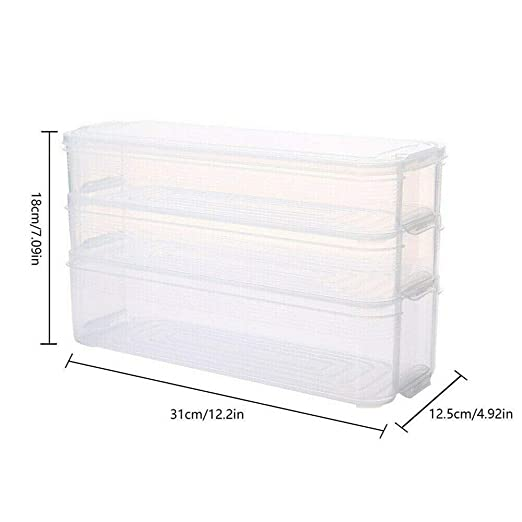 Turspit Caja De Almacenamiento De Refrigerador De 6L, Caja De ...