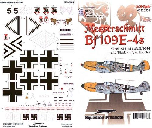 Superscale USA Messerschmitt BF 109E-4S Decals
