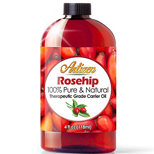 4oz Rosehip Oil by Artizen (100% PURE & NATURAL) - Cold Pressed & Harvested From Fresh Roses Bushes & Rose Seed - Rose Hip Oil is Perfect for Your Skin, Face, Nails, & Hands by Artizen