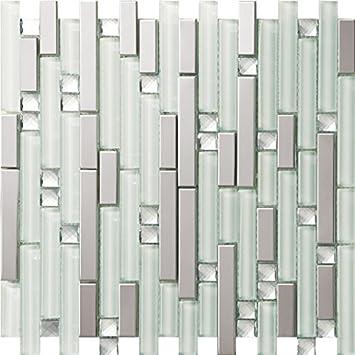 Spiegelglas Mix Metall Edelstahl Mosaik Fliesen Für Wand/Boden, 30x30cm  Home/Küche