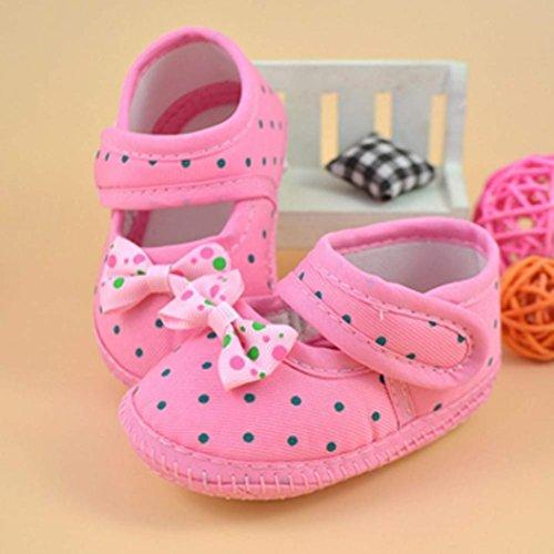 Tefamore Zapatos Bebe De Primeros Pasos Calzado De Estilo La Flor De Mariposa Pequeñas Botas Para Primeros Caminantes(Colores Opcional) rosa