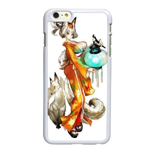 Q1Q70 muramasa la lame de démon R9P2JB coque iPhone 6 Plus de 5,5 pouces de cas de couverture de téléphone portable coque blanche HZ1UUV9HW