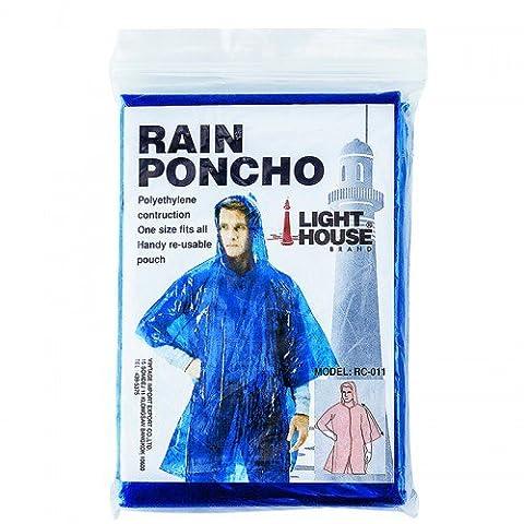 Vintage Plastic raincoat for adult disposable blue