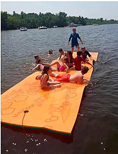 Maui Mat (by Aqua Lily Products, Floating Foam Fun Pad Designed for Water Recreation and Relaxing...