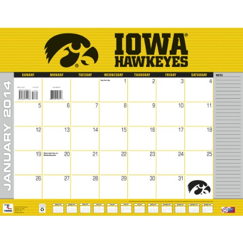 Turner - Perfect Timing 2014 Iowa Hawkeyes Desk Calendar, 22 x 17 Inches (8061305) (Electronic Timing Eyes compare prices)