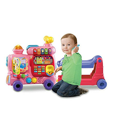 VTech Sit-to-Stand Ultimate Alphabet Train, Pink by VTech (Image #1)