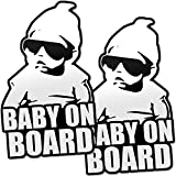 #9: Daft Baby ~ Baby on Board Sticker Hangover Decal Funny (2 Stickers)