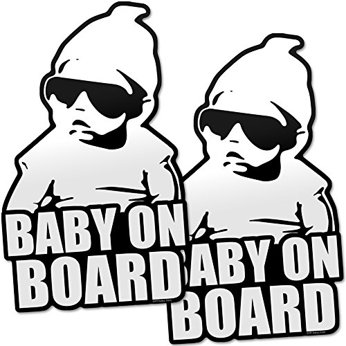 (Daft Baby ~ Baby on Board Sticker Hangover Decal Funny (2 Stickers))