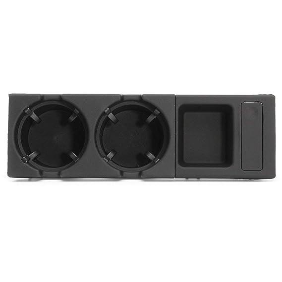 Consola central delantera, bebida/portavasos + caja de monedas para BMW E46 3 Series (Color: negro): Amazon.es: Bebé