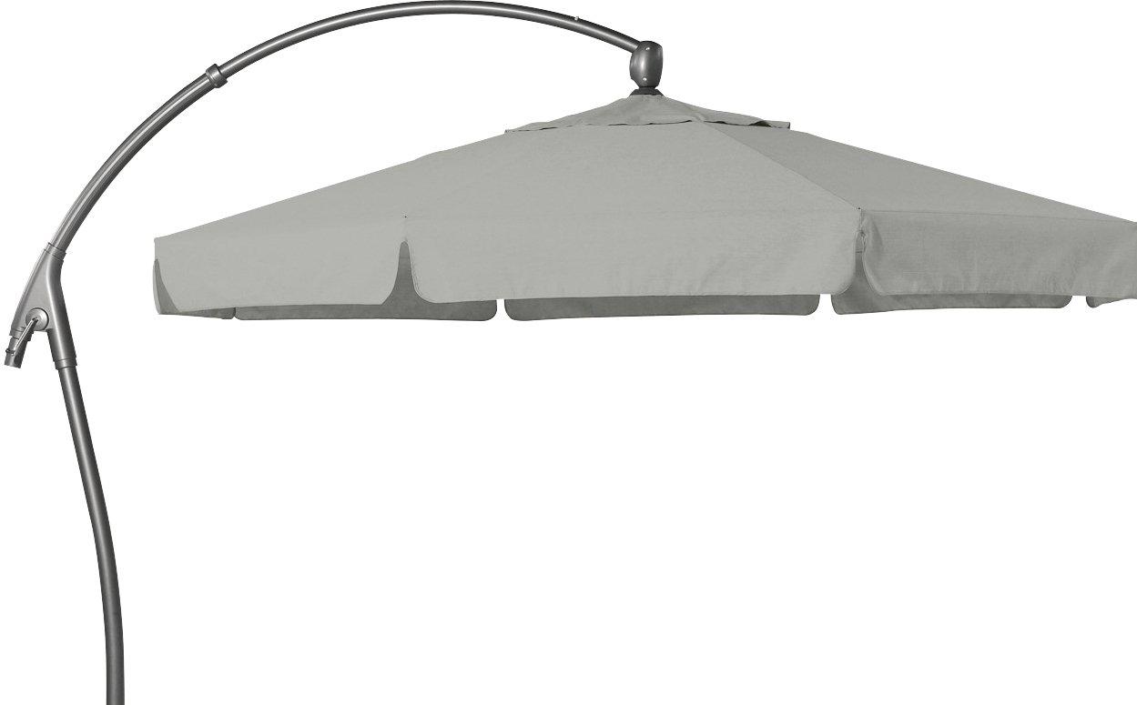 Hartman Ampelschirm 350 cm Scope hellgrau Sonnenschirm Sonnenschutz Alu Textil Parasol