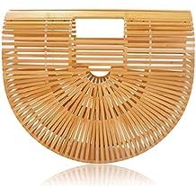 New 2018 Bamboo Handbag and Purse Handmade Beach Tote for Women by la Bambu