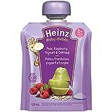 Heinz Baby Pear, Raspberry, Yogurt & Oatmeal Pouch, 128mL (Pack of 6)