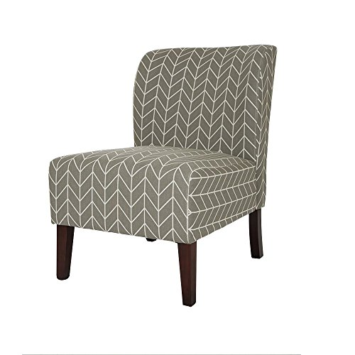Glitzhome Herringbone Upholstered Accent Chair Gray - Seat Conversation Leather Sofa