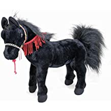 "Bocchetta Plush Toys Horse Arabian Stuffed Animal Toy Prince 14""/36cm Black"