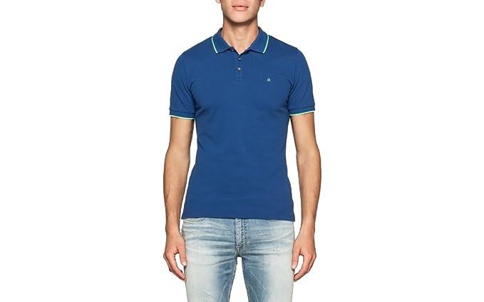 Calvin Klein Jeans - Polo - para Hombre Monaco Blue XXL: Amazon.es ...