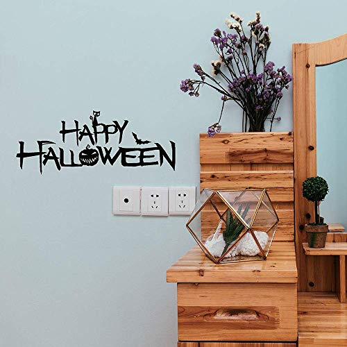 USHOT Halloween Witch Background Decorated Wall Stickers Black One Size]()