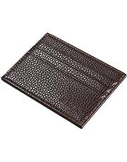 محفظة جلدية ناعمة للرجال قصيرة حامل بطاقات الائتمان محفظة 6 فتحات بطاقة محفظة بسيطة QB52-2