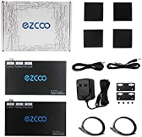 EZCOO 4K HDMI 2.0 HDBaseT Extender 230ft ARC SPDIF Audio Breakout,Uncompressed 4K 60Hz 4:4:4 18G HDR10 HDCP2.2 230ft 1080P//130ft 4K Cat 5e//6 4K//1080P Scaler,No lag,Two Way PoE+IR,Dolby Atmos,CEC