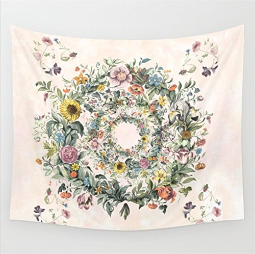 Willing Life Boho Vivid Flower Garland 59X51 Inch Floral Tap