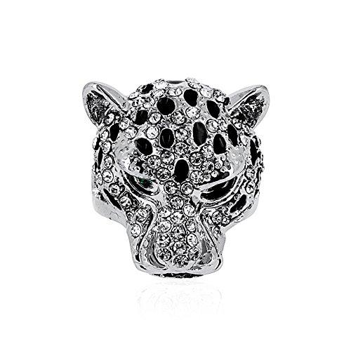 """Fashionvictime - Bague Femme - """"Tigre"""" - Plaqué Argent - Cubic Zirconium (Cz) - Bijou"""