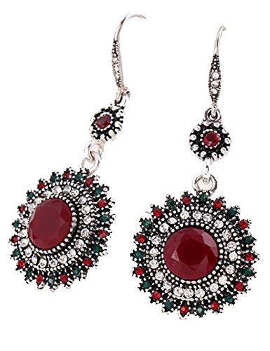 bohemia-national-wind-restoring-ancient-ways-sunflower-earrings-red