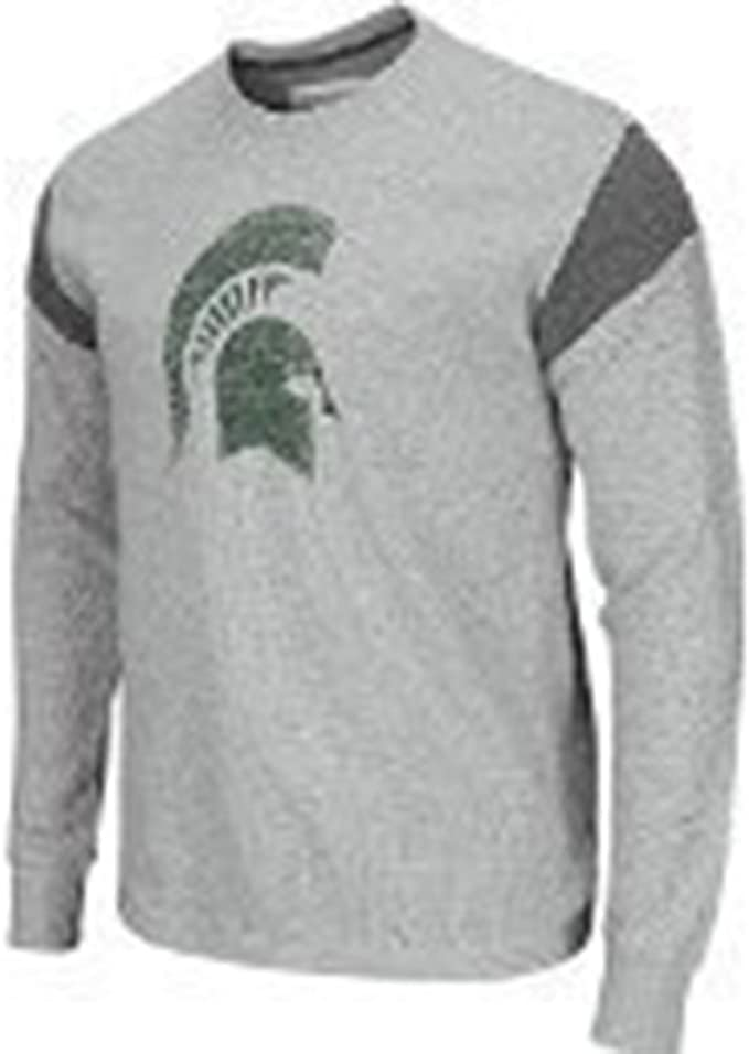 Michigan State Spartans Colosseum NCAA Avenger Waffle Knit Light Sweatshirt