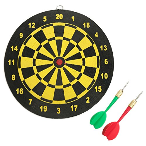 Thacher's Nook Dart Board 8'' Double-sided Dartboard with 2 Darts by Thacher's Nook