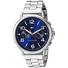 Tommy Hilfiger Women's 'CASEY' Quartz Stainless Steel Casual Watch, Color:Silver-Toned (Model: 1781731)