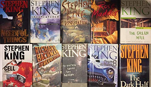 Stephen King Hardcover Horror Novel Collection 10 Book Set