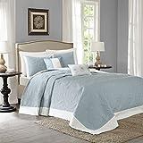Madison Park MP13-2629 Ashbury 5Piece Reversible Bedspread Set King , Blue, King,Blue,King