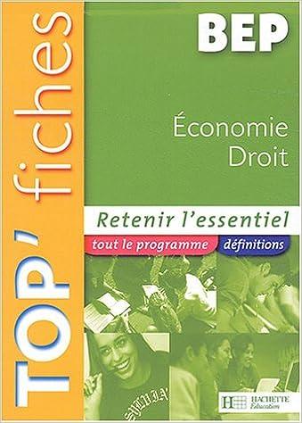 Livres Economie Droit BEP pdf