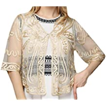 Zimaes-Women Lace Crochet Perspective Summer Daily Retrol Cardigan