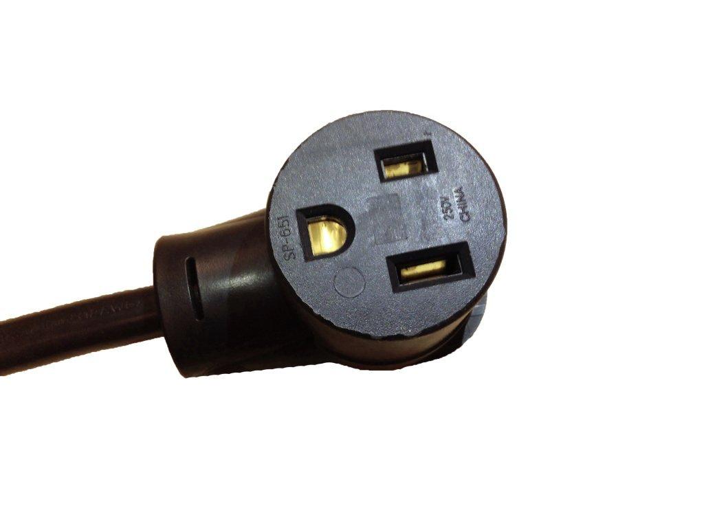 Lotos Technology PT02 Pigtail Type 2 Electrical Plug, Convert 220V to 110V for TIG200/MIG175 TIG/MIG Welder, Works for Eastwood Longevity, AHP, MIG and TIG Welders, Black