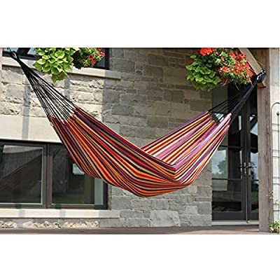 Vivere Brazilian Style Single Hammock -  - patio-furniture, patio, hammocks - 51CVDjWEQLL. SS400  -