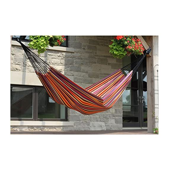 Vivere Brazilian Style Single Hammock -  - patio-furniture, patio, hammocks - 51CVDjWEQLL. SS570  -