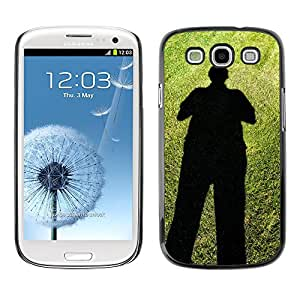Hot Style Cell Phone PC Hard Case Cover // M00150346 Shadows People Man Standing Dark // Samsung Galaxy S3 S III SIII i9300