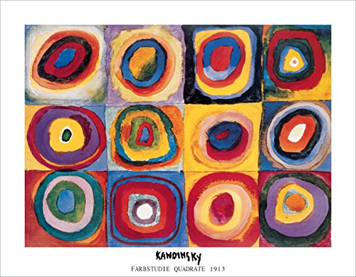 HUNTINGTON GRAPHICS Farbstudie Quadrate, c.1913 by Wassily Kandinsky - Art Print/Poster 11x14 inches (1913 Print)
