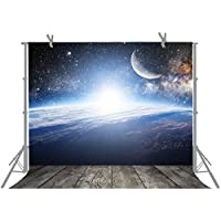 FUERMOR 7x5ft Universe Bright Stars Photography Backdrop Space Theme Party Photo Props A833