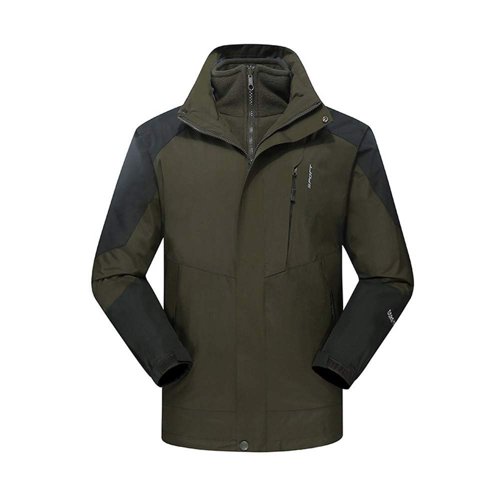 Hoodies for Men Big and Tall.Men's Winter Outdoor Outfit Two Piece Three in One Waterproof Breathable Coat