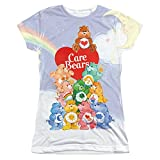 CARE BEARS/PILE UP-S/S JUNIOR POLY CREW-WHITE-LG