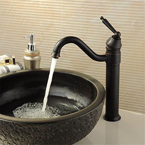 NOHOPE Grifo de lavabo de una sola palanca / grifo vintage / Grifo de lavabo de baño de una llave / grifo para lavabo /...