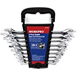 WORKPRO 9-Piece Metric Cr-V Double Open End Wrench Set