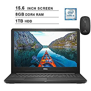 2020 Dell Inspiron 15 3000 i3576 15.6 Inch HD Laptop (Intel Core i3-8130U 3.40 GHz, 8GB DDR4 RAM, 1TB HDD, Windows 10, Black) + NexiGo Wireless Mouse Bundle (Renewed)