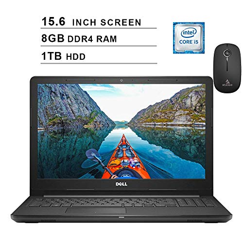 2020 Dell Inspiron 15 3000 i3576 15.6 Inch HD Laptop (Intel Core i3-8130U 3.40 GHz, 8GB DDR4 RAM, 1TB HDD, Windows 10, Black) + NexiGo Wireless Mouse Bundle (Renewed)