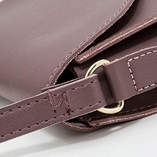 Trend Bag Da A Del Zhwei Messenger Borsa Versione Donna colore Nuova Coreana Della Brown Tracolla Moda Purple qBW1ng40W